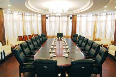 well arranged table for a meeting